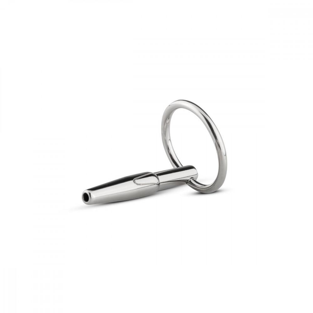 БДСМ аксессуары - Полый уретральный стимулятор Sinner Gear Unbendable - Hollow Penis Plug, длина 4см, диаметр 8мм 1