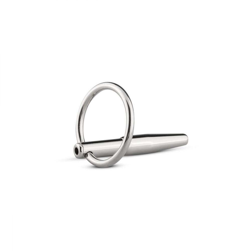 БДСМ аксессуары - Полый уретральный стимулятор Sinner Gear Unbendable - Hollow Penis Plug, длина 4см, диаметр 8мм 2