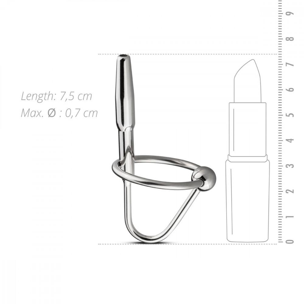 БДСМ аксессуары - Уретральный стимулятор Sinner Gear Unbendable - Sperm Stopper Hollow Ring, 2 кольца (2,5 см и 3 см) 3