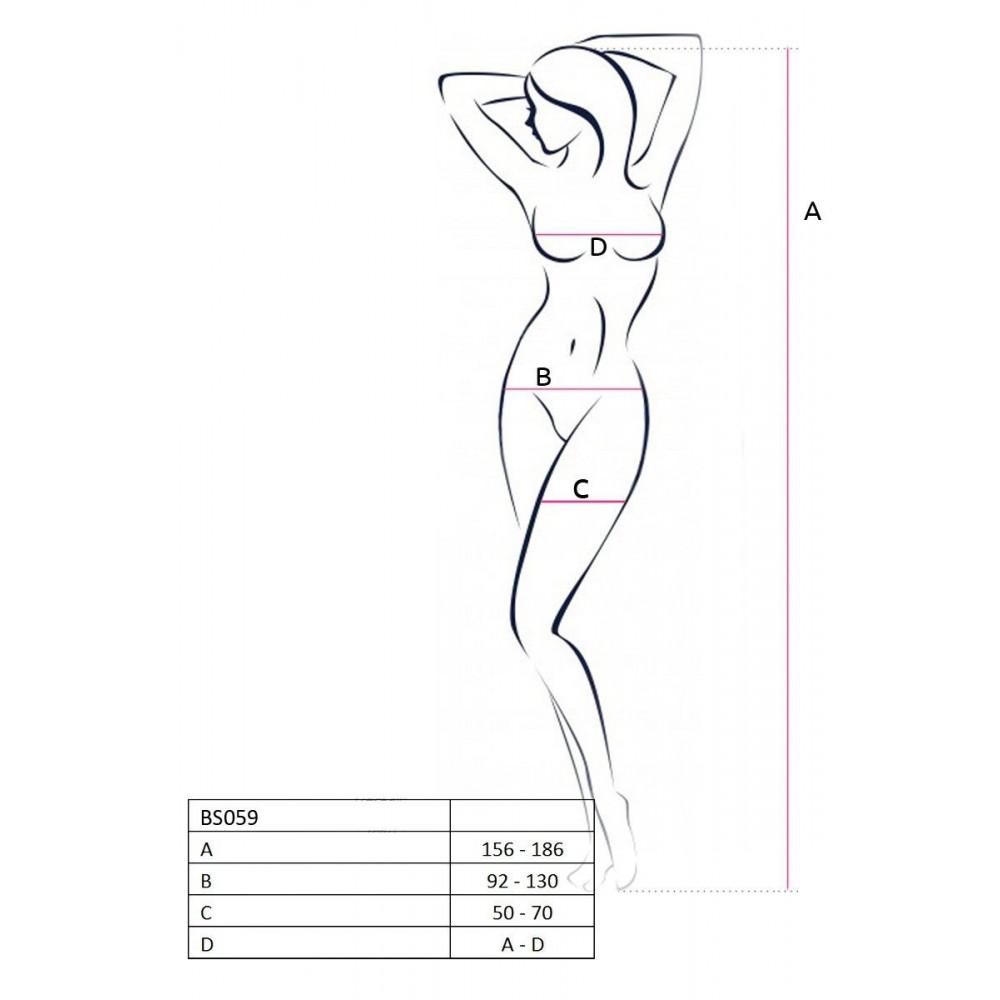 Эротическое боди - Бодистокинг BS059 white 2