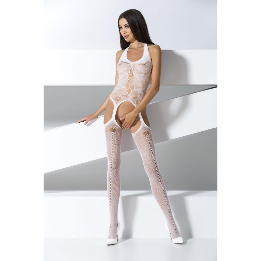Эротическое боди - Бодистокинг BS059 white