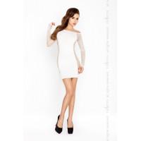 Платье-чулок, белое