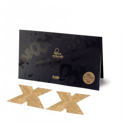 Украшение на соски Bijoux Indiscrets - Flash Cross Gold