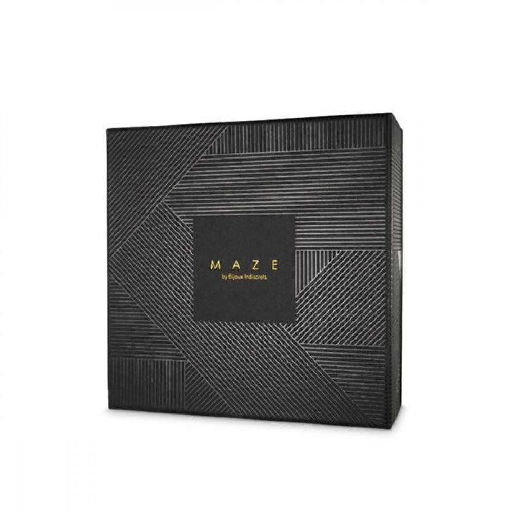 Одежда для БДСМ - Портупея Bijoux Indiscrets MAZE - X Harness Black 3