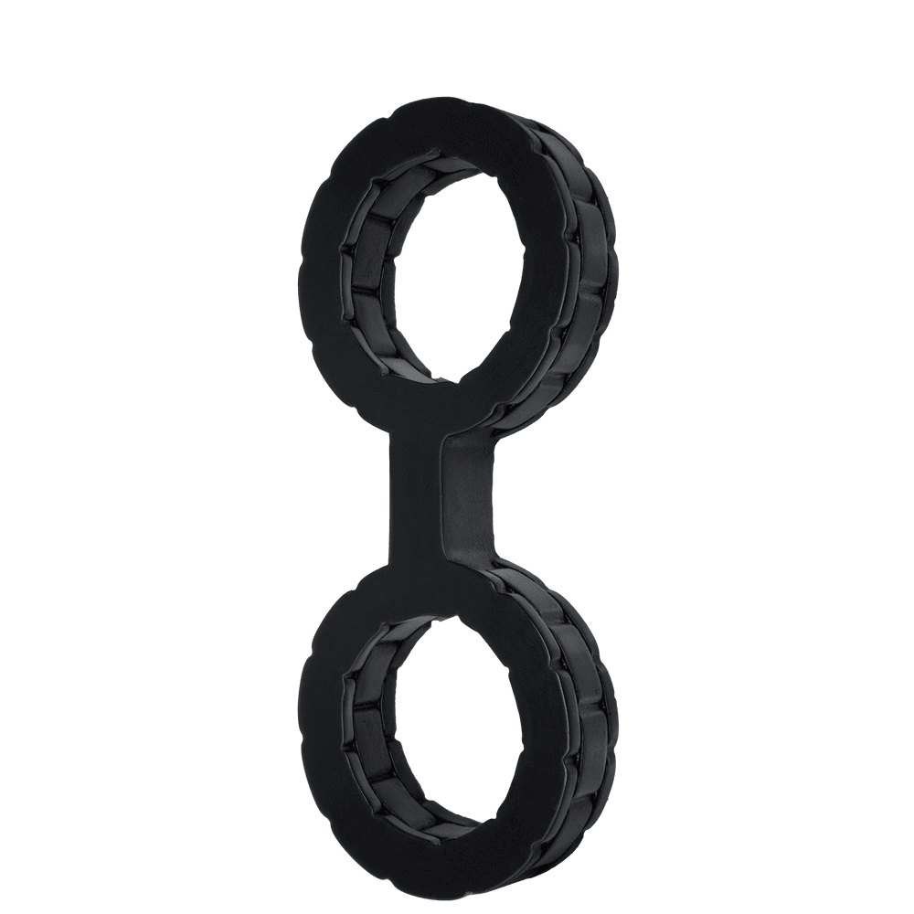 БДСМ наручники - Наручники силиконовые Doc Johnson The Cuffs Small - Black