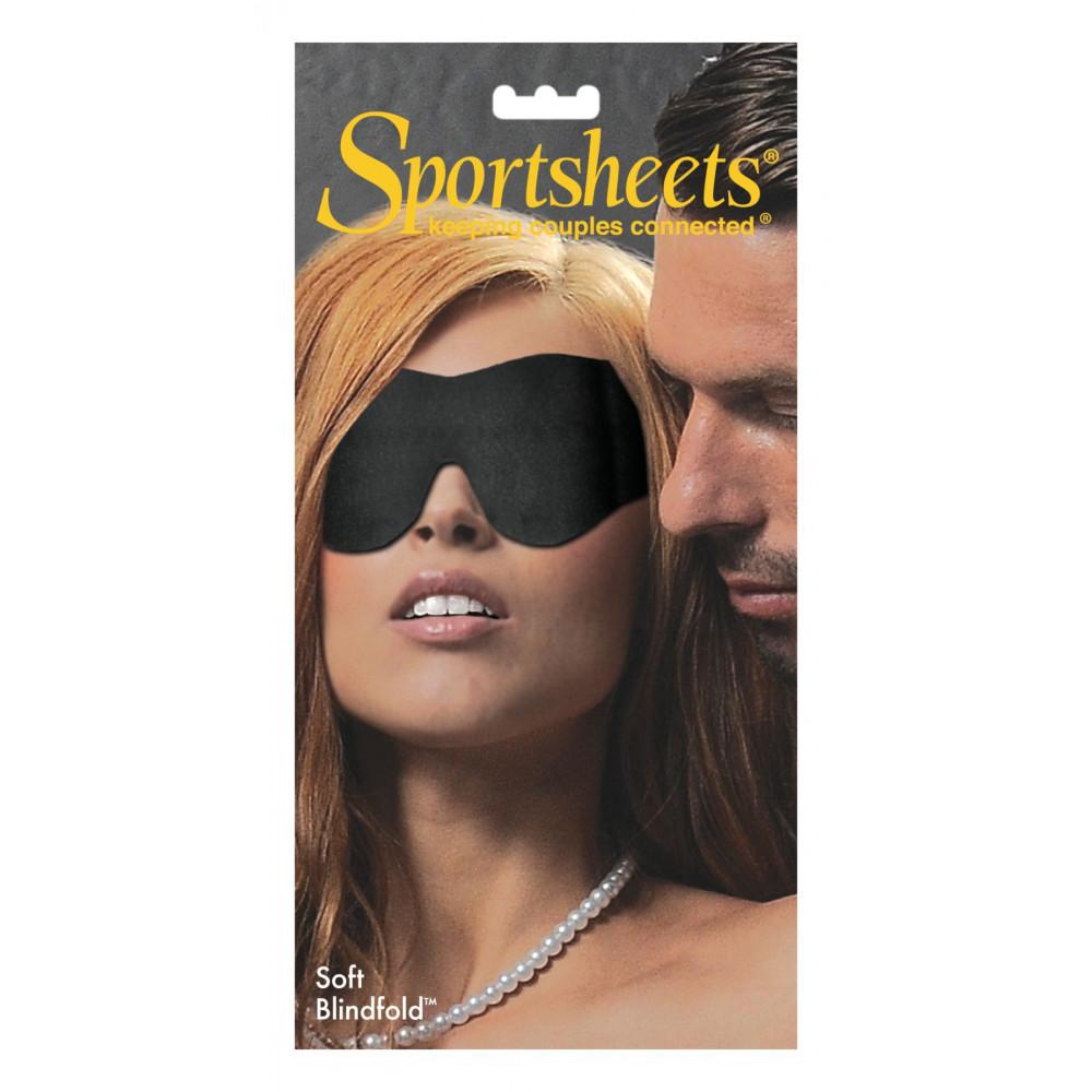 Маска для БДСМ - Маска на глаза Sportsheets Soft Blindfold Black 1