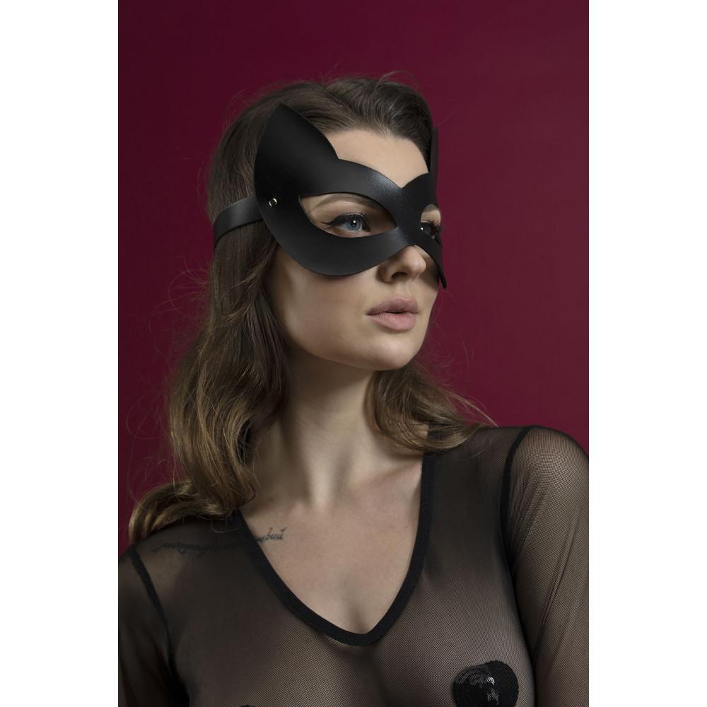 Маска для БДСМ - Маска кошки Feral Fillings - Kitten Mask черная 2