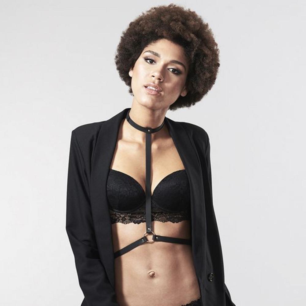 Одежда для БДСМ - Портупея Bijoux Indiscrets MAZE - I Harness Black 6
