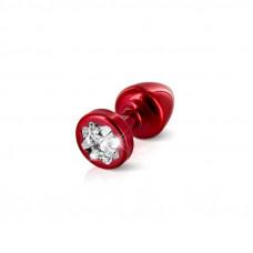 Анальная пробка со стразом Diogol Anni R Clover Red Кристалл 25мм