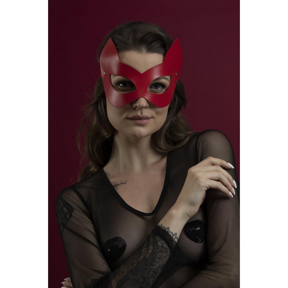 Маска для БДСМ - Маска кошки Feral Fillings - Kitten Mask красная