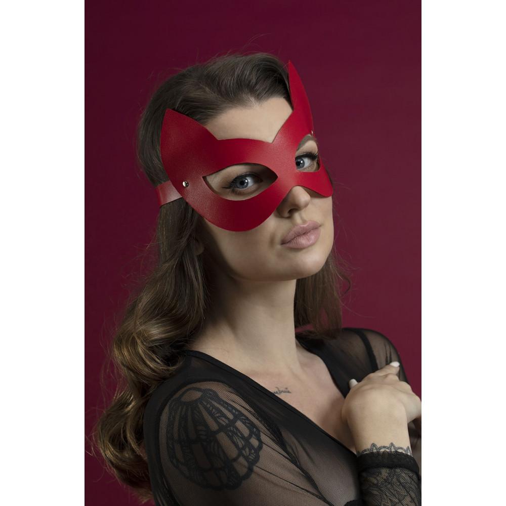 Маска для БДСМ - Маска кошки Feral Fillings - Kitten Mask красная 1