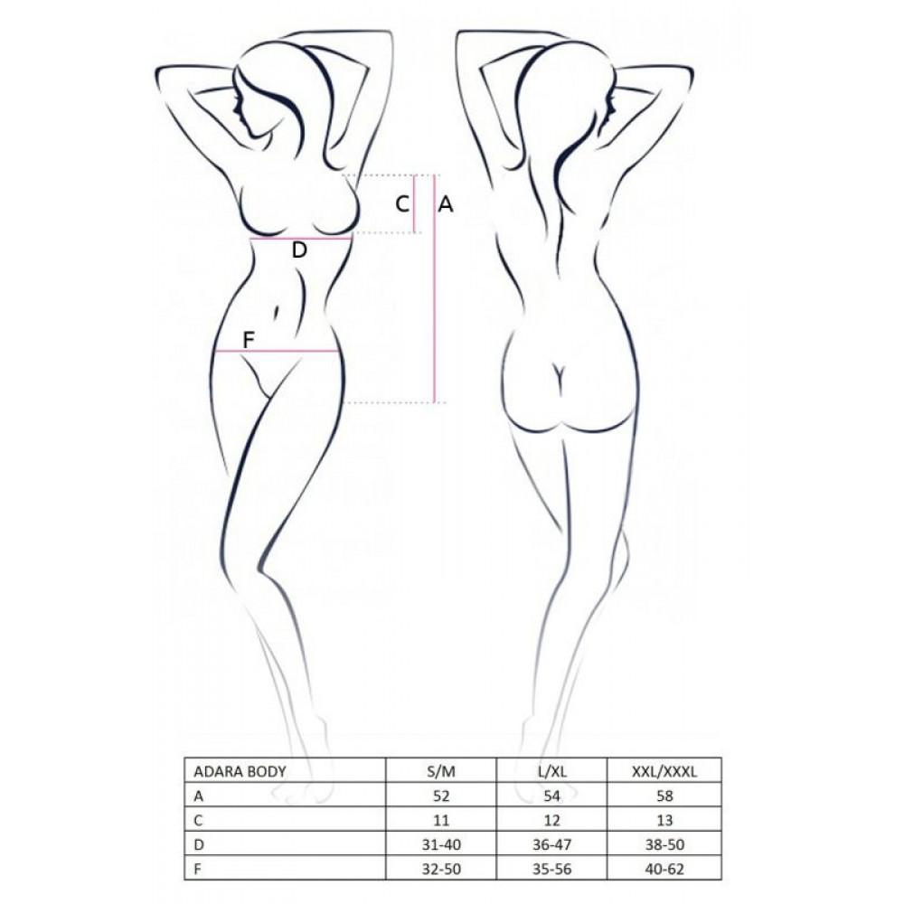 Эротическое боди - Монокини с ромбовой вставкой, красный L/XL  2