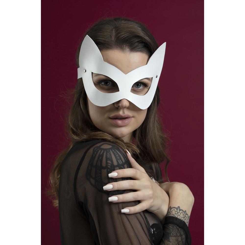 Маска для БДСМ - Маска кошки Feral Fillings - Kitten Mask белая