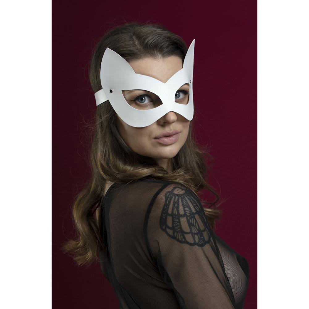 Маска для БДСМ - Маска кошки Feral Fillings - Kitten Mask белая 3