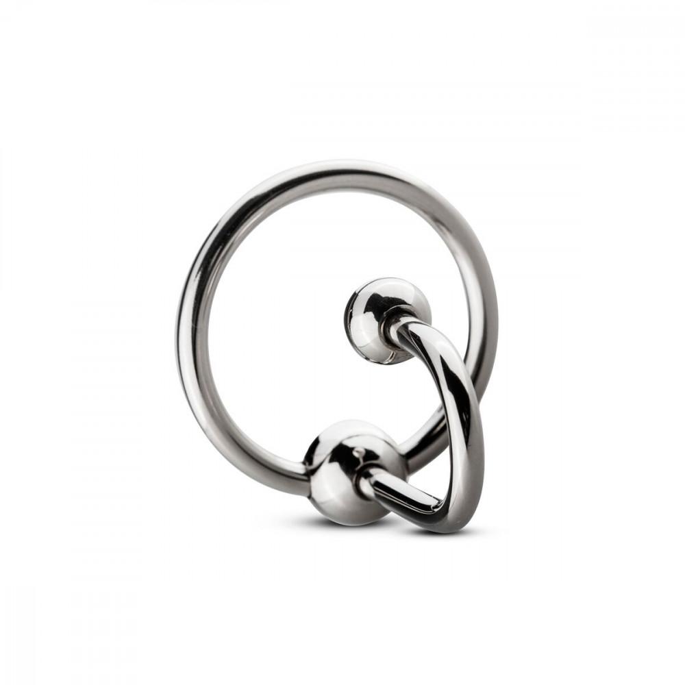 БДСМ аксессуары - Уретральная вставка с кольцом Sinner Gear Unbendable - Sperm Stopper Solid, диаметр кольца 3,2см 2