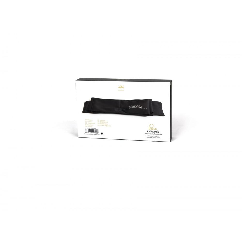 БДСМ игрушки - Повязка из сатина Bijoux Indiscrets - Shhh Blindfold 2