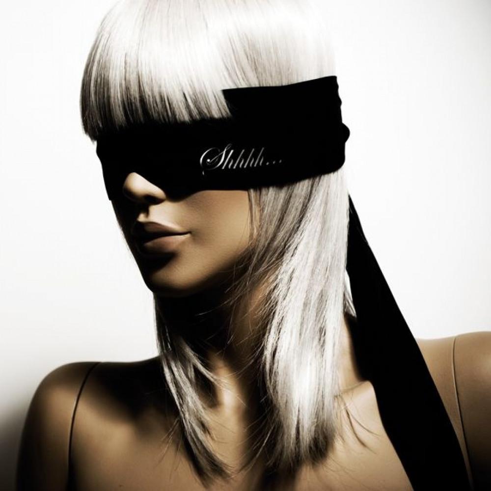 БДСМ игрушки - Повязка из сатина Bijoux Indiscrets - Shhh Blindfold 1