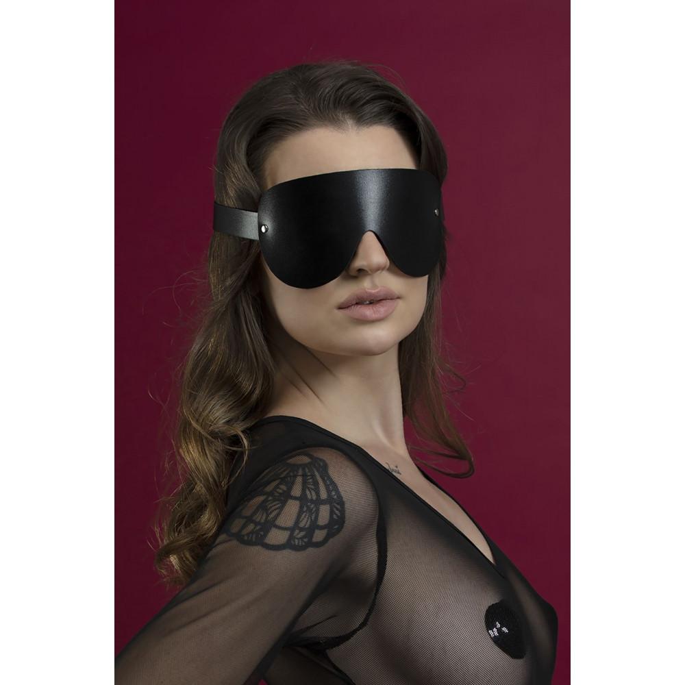 Маска для БДСМ - Маска закрытая Feral Fillings - Blindfold Mask черная