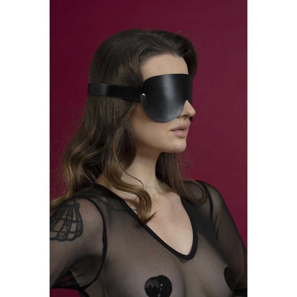 Маска для БДСМ - Маска закрытая Feral Fillings - Blindfold Mask черная 1