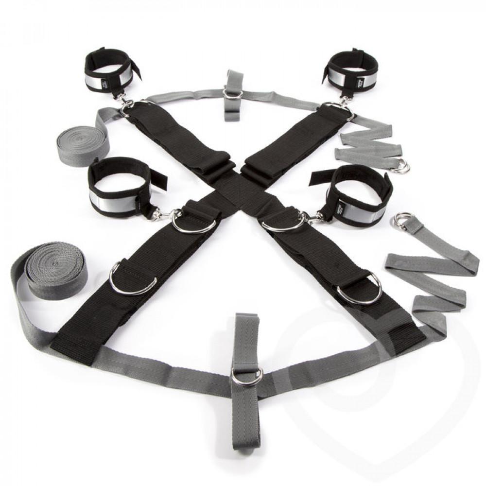 БДСМ наручники - Крестообразная ременная система для фиксации к кровати ЗАМРИ, Fifty Shades of Grey 2