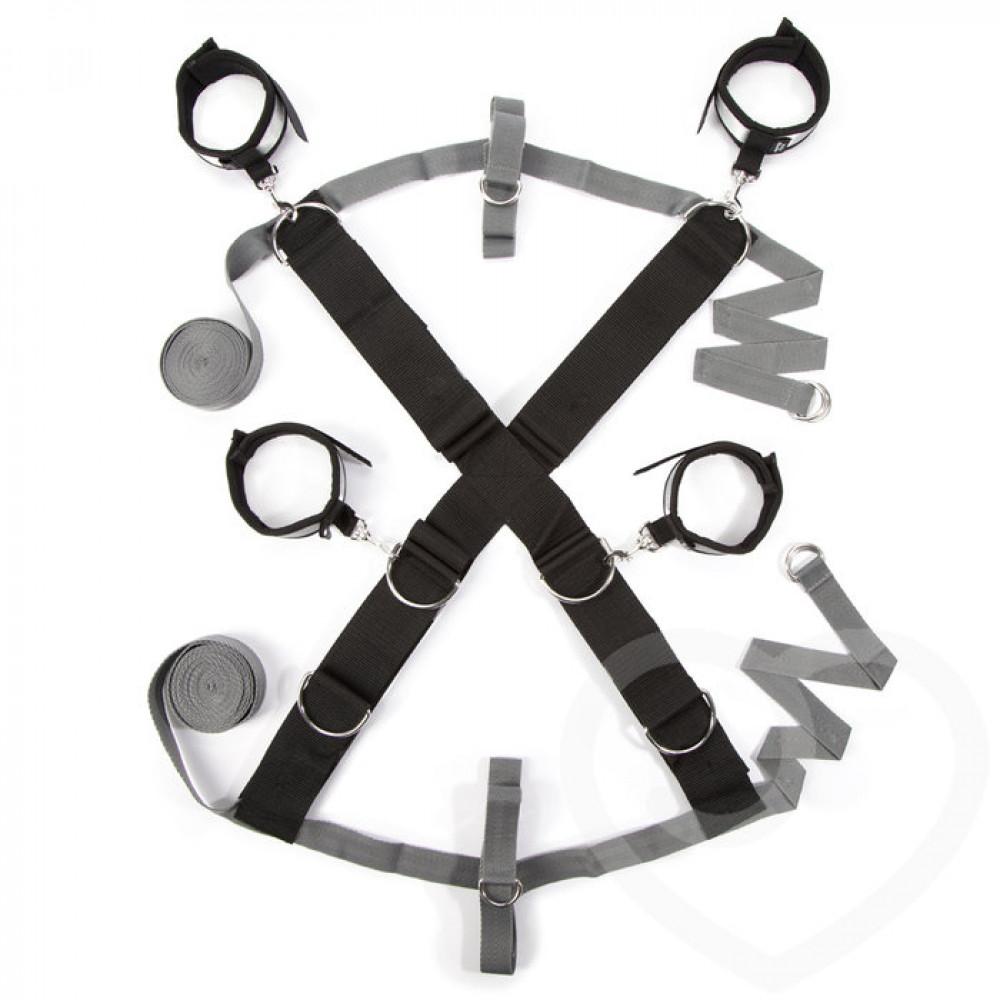 БДСМ наручники - Крестообразная ременная система для фиксации к кровати ЗАМРИ, Fifty Shades of Grey