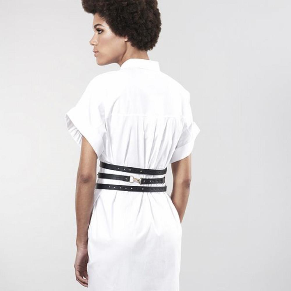 Одежда для БДСМ - Портупея Bijoux Indiscrets MAZE - Wide Belt and Restraints Black 7
