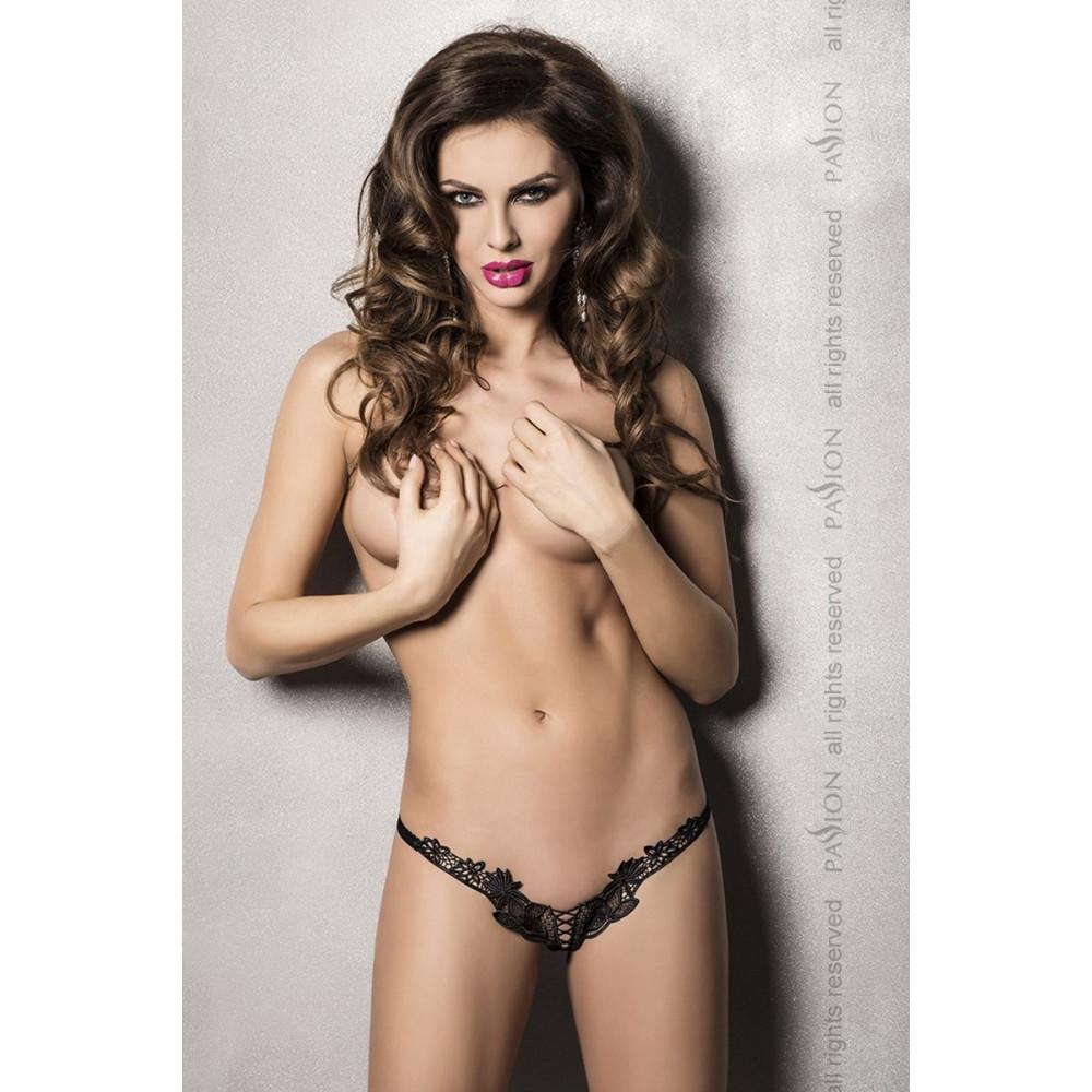 Сексуальные трусики - ATHENA THONG black S/M - Passion