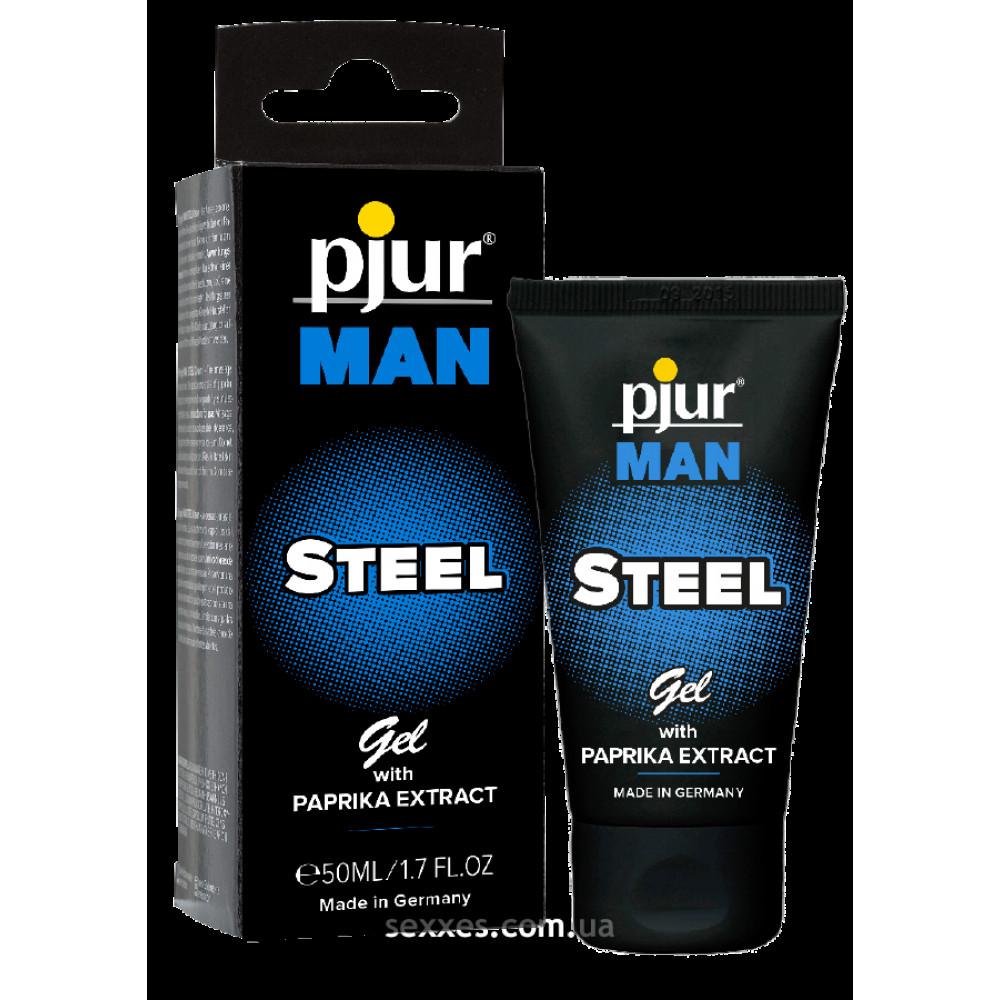 Массажные гели - Гель для пениса массажный pjur MAN Steel Gel 50 ml