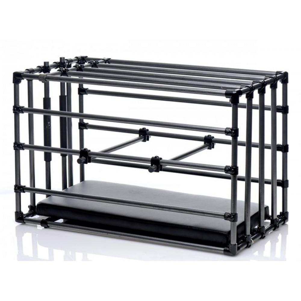 БДСМ аксессуары - Прочная разборная клетка для наказаний Kennel Adjustable Bondage Cage