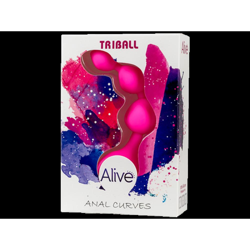 Анальные бусы и цепочки - Анальные шарики Alive Triball Pink 1