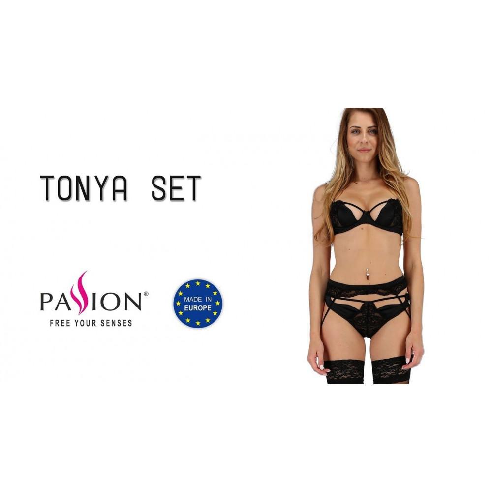 Эротические комплекты - TONYA SET black XXL/XXXL - Passion 3