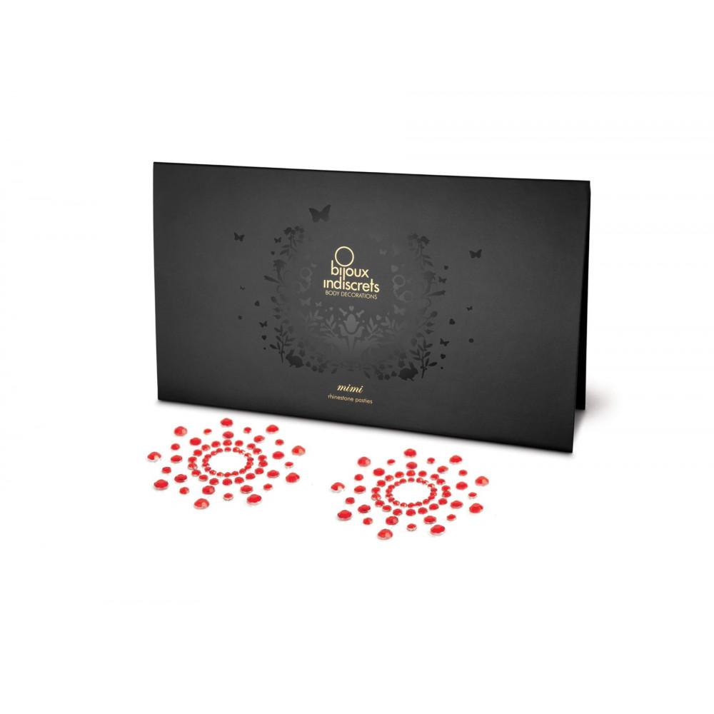Интимные украшения - Украшение на соски Bijoux Indiscrets - Mimi Red
