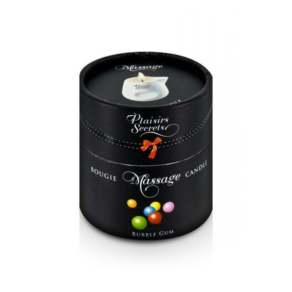 Массажные свечи - Массажная свеча Plaisirs Secrets Bubble Gum (80 мл) 2