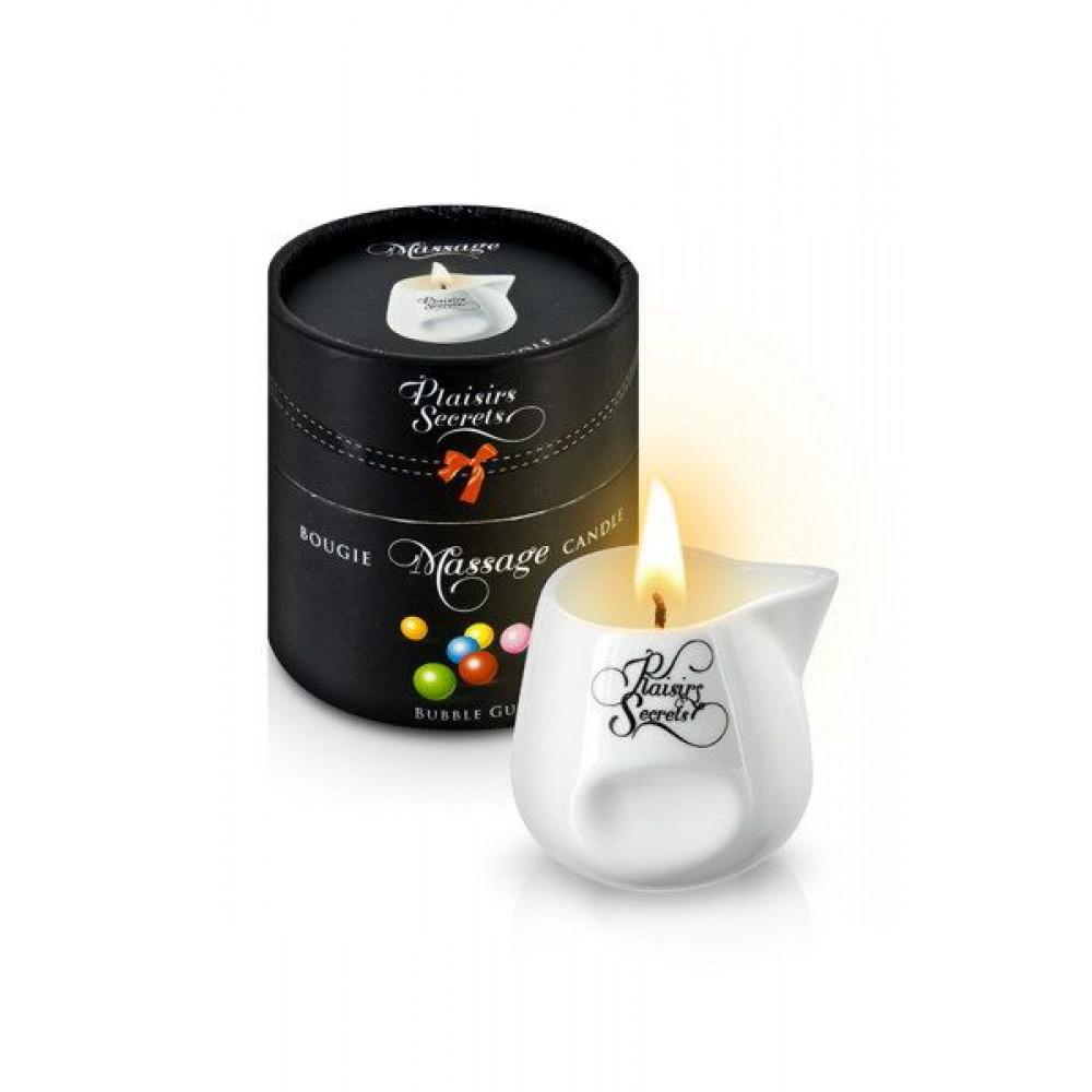 Массажные свечи - Массажная свеча Plaisirs Secrets Bubble Gum (80 мл)