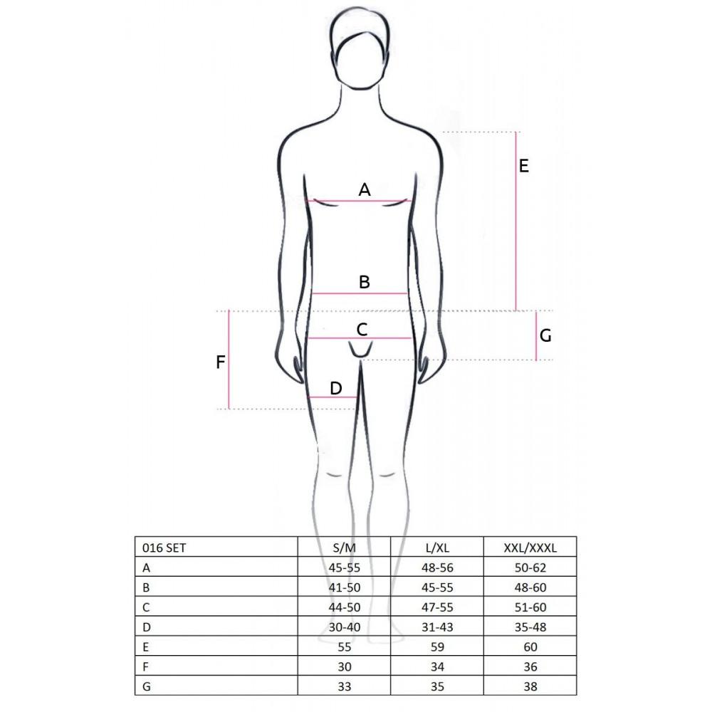 Боди, комплекты и костюмы - Сексуальный черный комплект Passion S/M 1