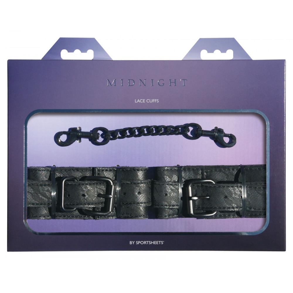БДСМ наручники - Наручники Sportsheets Midnight Lace Cuffs 1