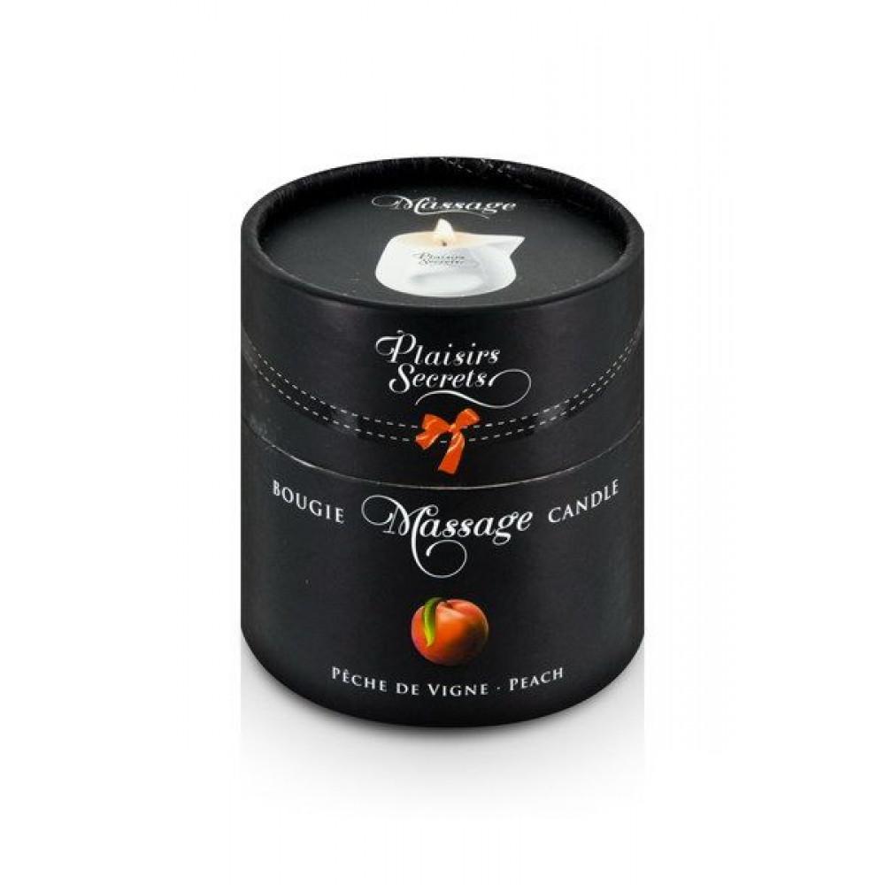 Массажные свечи - Массажная свеча Plaisirs Secrets Peach (80 мл) 2