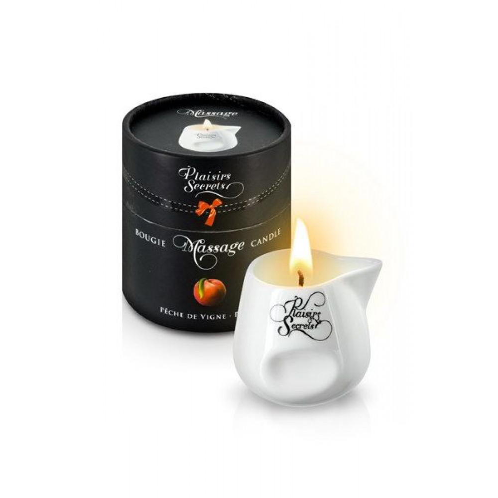Массажные свечи - Массажная свеча Plaisirs Secrets Peach (80 мл)