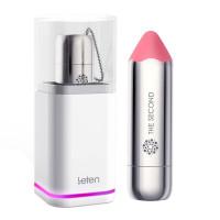Вибропуля Leten The Second scented powder с индукционной зарядкой, водонепроницаемая, очень мощная