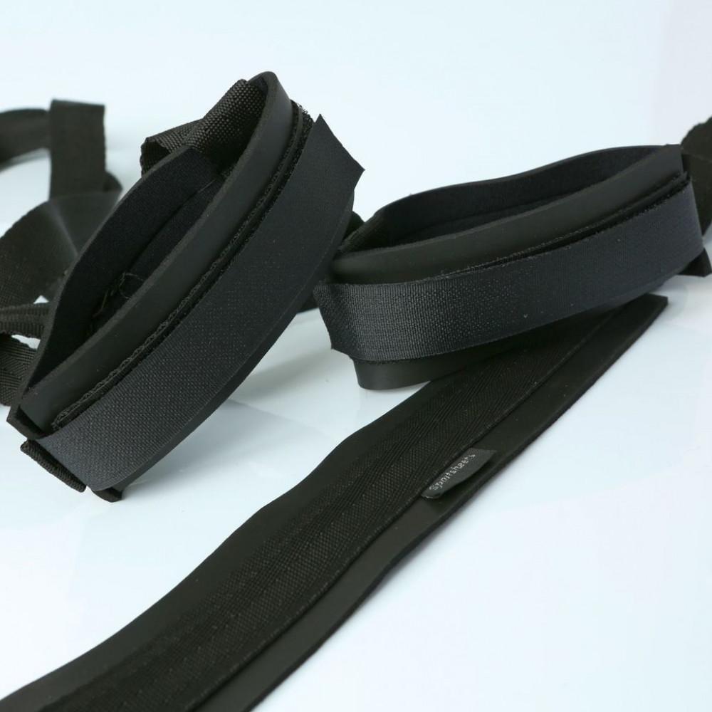 БДСМ аксессуары - Система ремней для поддержания ног Sportsheets Sex Sling Black 2