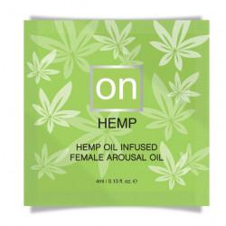 Пробник возбуждающего масла Sensuva - ON for Her Hemp Infused Arousal Oil (0,3 мл)