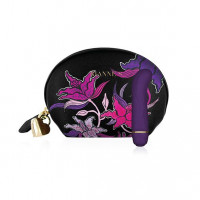 Мини вибратор для точки G Rianne S: Mini G Floral, 7 режимов работы, чехол-косметичка Deep Purple