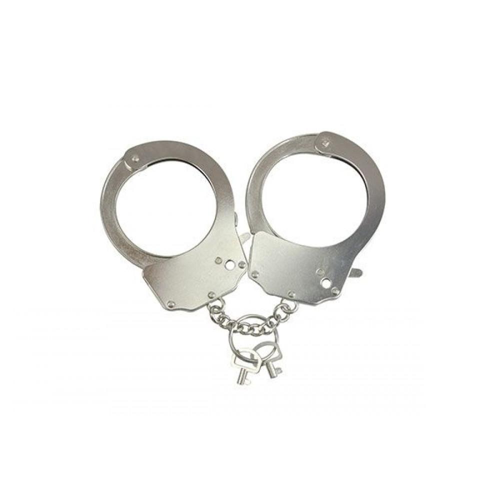 БДСМ наручники - Наручники металлические Adrien Lastic Handcuffs Metallic