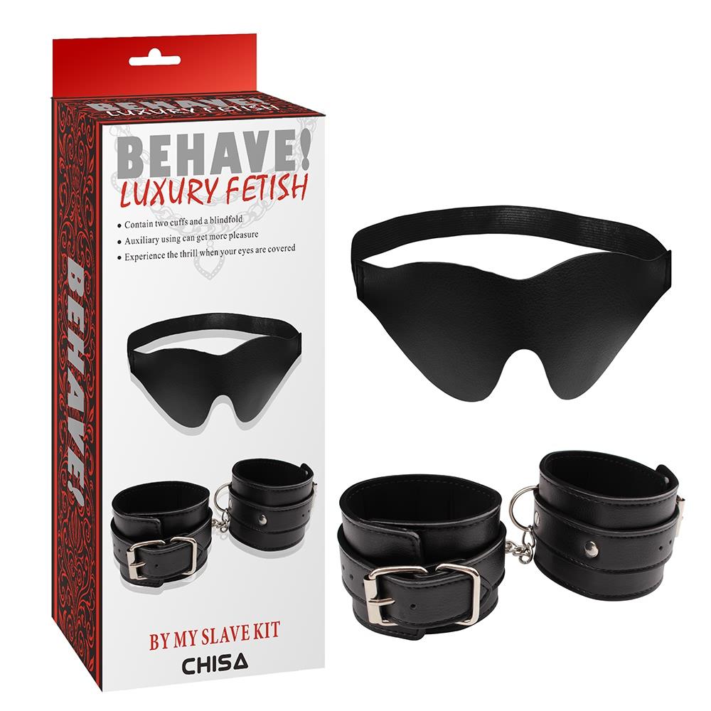 Наборы для БДСМ - CH64572 Набормаска+наручникиBehaveLuxuryFetish Chisa