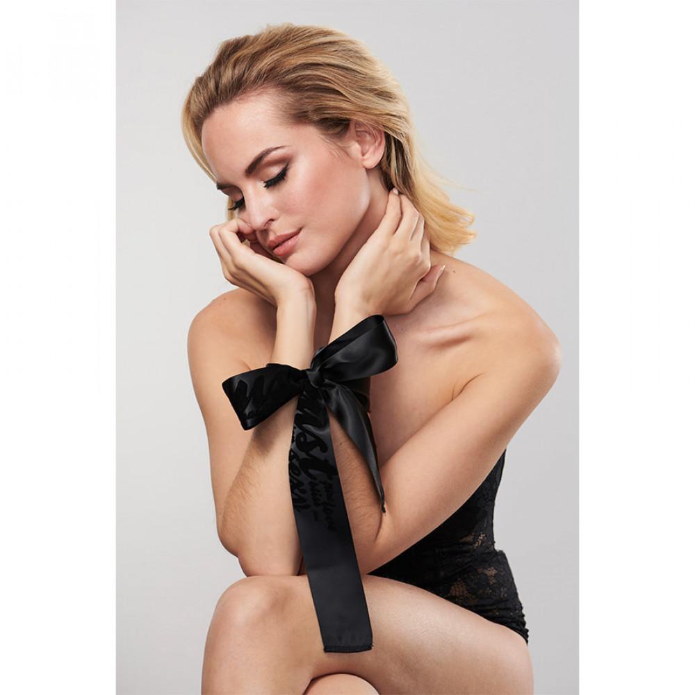 БДСМ наручники - Атласные ленты-наручники Silky Sensual Bijoux Indiscrets 4