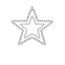 Украшения для груди со стразами Mi Mi Звезда серебристый