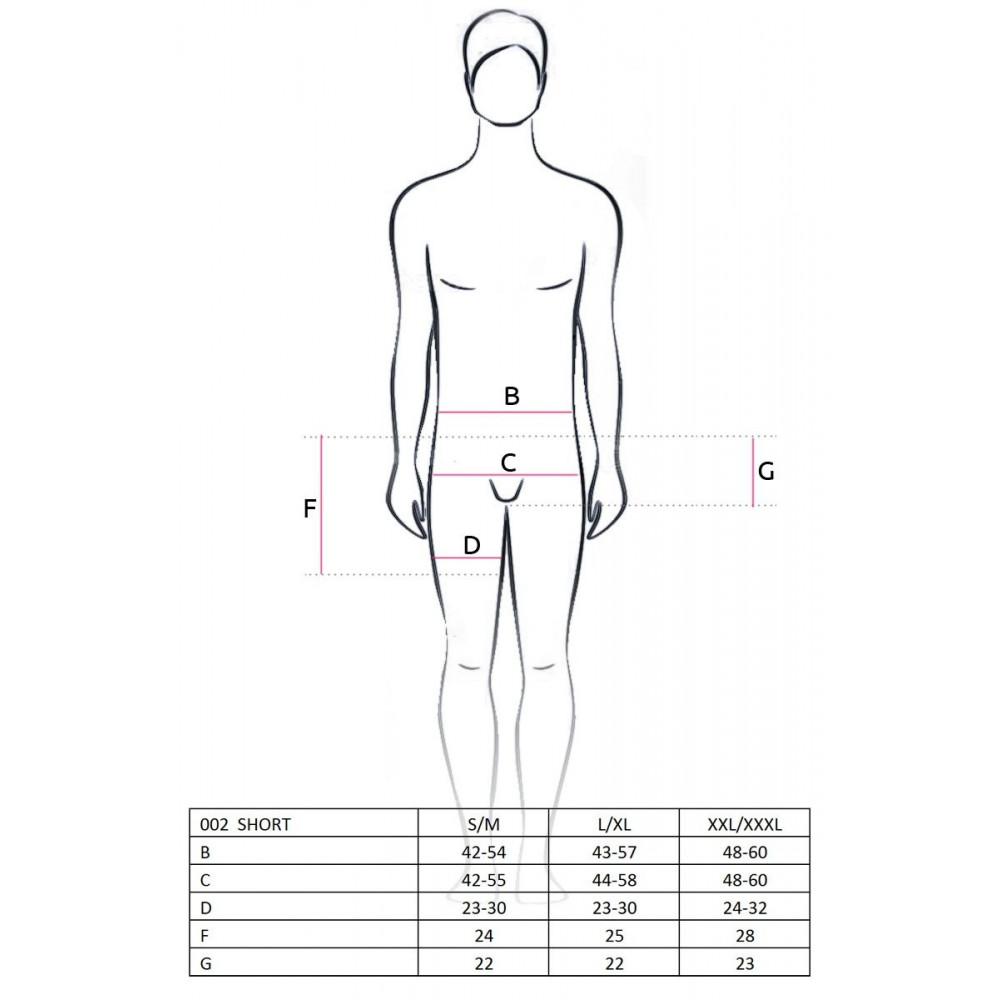 Стринги, трусы и шорты - 002 SHORT black S/M - Passion 1