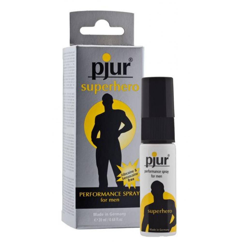Мужские возбудители - Пролонгирующий спрей для мужчин pjur Superhero Spray 20 мл