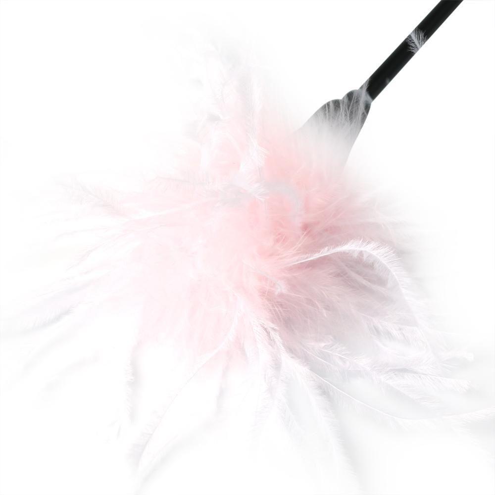 БДСМ плети, шлепалки, метелочки - Метелочка Sex And Mischief - Whip & Tickle Pink/White 1