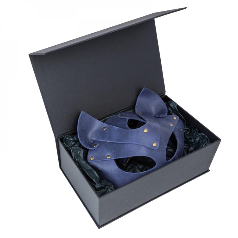 Маска для БДСМ - Маска кошки LOVECRAFT голубая 4